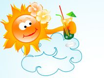 Sun with drink Stock Image