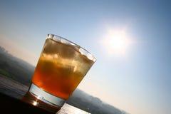 Sun drink. Ice drink on a sun Stock Image