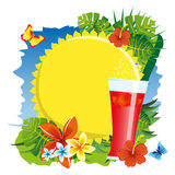 Sun and drink Royalty Free Stock Photography