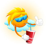 Sun Drinking Cold Drink Royalty Free Stock Photo