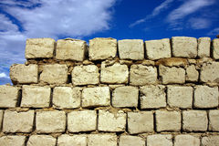 Sun Dry Mud Bricks Wall Royalty Free Stock Images