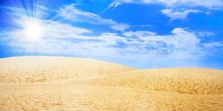Sun dunes Stock Photo