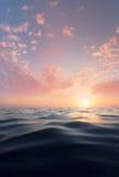Sun e água Imagem de Stock