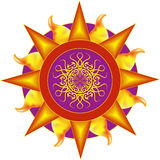 Sun e água Imagens de Stock Royalty Free