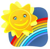 Sun e arco-íris Imagem de Stock