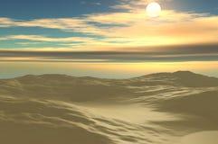 Sun e areia Fotos de Stock Royalty Free