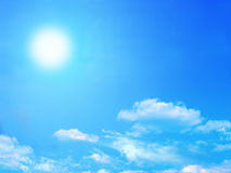 Sun e cielo Fotografia Stock