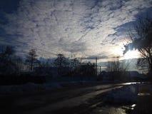 Sun e cielo Fotografie Stock