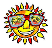 Sun e cielo e solarizzazione e resto Fotografia Stock Libera da Diritti