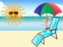Sun e divertimento sulla spiaggia Fotografia Stock