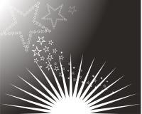 Sun e estrelas Foto de Stock Royalty Free
