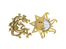 Sun e a faísca da lua Fotografia de Stock Royalty Free