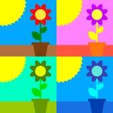 Sun e flor Imagens de Stock
