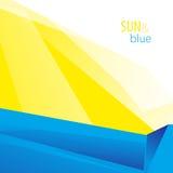 Sun e fondo blu illustrazione di stock