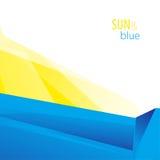 Sun e fondo blu Fotografia Stock Libera da Diritti