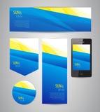 Sun e fondo blu Immagine Stock Libera da Diritti
