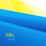 Sun e fondo blu Fotografie Stock Libere da Diritti