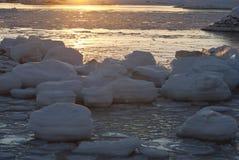 Sun e ghiaccio. Fotografia Stock