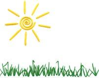 Sun e grama Foto de Stock