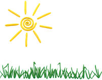 Sun e hierba Foto de archivo