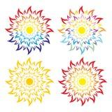 Sun e logotipo do mar Fotos de Stock