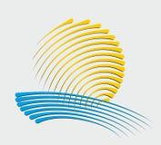Sun e logotipo do mar Fotografia de Stock Royalty Free