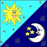 Sun e luna illustrazione di stock