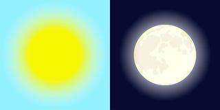 Sun e luna Immagini Stock