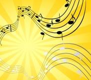 Sun e música Ilustração do Vetor