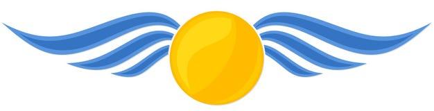 Sun e mar ilustração royalty free