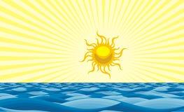 Sun e mar Imagens de Stock Royalty Free