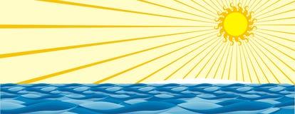 Sun e mar Imagem de Stock