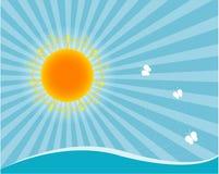 Sun e mar Foto de Stock Royalty Free