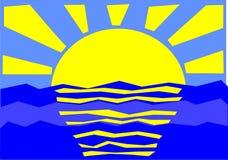 Sun e mare immagini stock libere da diritti
