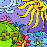 Sun e natureza Foto de Stock Royalty Free