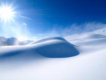 Sun e neve Fotografia Stock Libera da Diritti