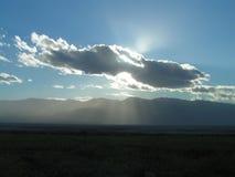 The Sun e nube Fotografie Stock Libere da Diritti