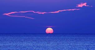 Sun e nube Fotografia Stock