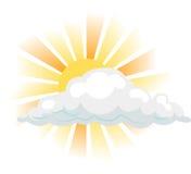 Sun e nube Immagini Stock