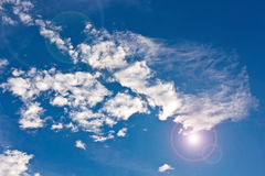 Sun e nubi. Fotografia Stock Libera da Diritti
