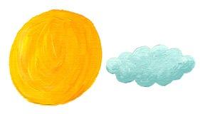 Sun e nuvem ilustração do vetor
