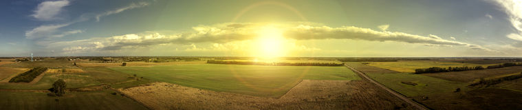 Sun e nuvem panorâmicos Fotos de Stock Royalty Free