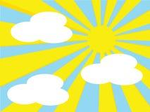 Sun e nuvens Foto de Stock