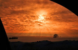 Sun e nuvens Imagens de Stock Royalty Free