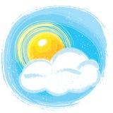 Sun e nuvola Fotografia Stock Libera da Diritti