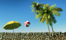 Sun e paisagem da praia Fotos de Stock