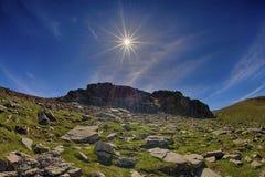 Sun e panorama del lago fotografia stock libera da diritti