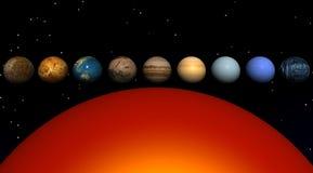 Sun e planetas ilustração royalty free
