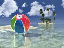 Sun e praia Imagens de Stock Royalty Free