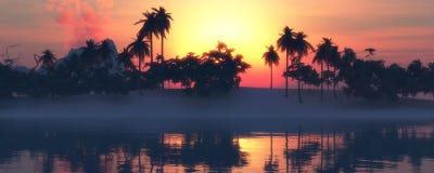 Sun e praia Fotografia de Stock Royalty Free